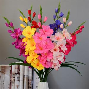 """Поддельный Single Стволовые Vaniot Houtt 30,31"""" Legth Моделирование Весна Гладиолус для свадебных дома Декоративных искусственных цветов"""