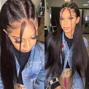 Glueless 4x4 Silk Top Spitze-Front-Menschenhaar-Perücken mit Baby-Haar-Fälschungs-Scalp oder volle Spitze-Perücke für schwarze Frauen Natürlicher Haarstrich