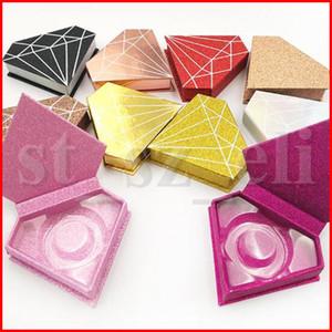 وميض الماس صندوق 3D المنك الرموش صندوق كاذبة الرموش حالة المنك جلدة حزمة لاش هدايا صناديق تغليف صندوق حالة المغناطيسي