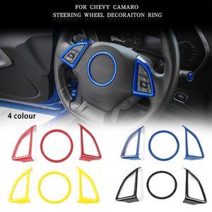 القيادة سيارة عجلة ABS غطاء الزخرفية 3PCS لشيفروليه كامارو 2017+ سيارة اكسسوارات التصميم الداخلية السيارات