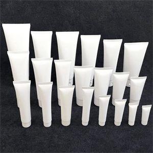 15ml 20ml 30ml 50ml 100ml vuoto bianco ricaricabile in plastica morbida cosmetici campione bottiglie vasi di corsa di trucco Contenitori per Lozione Shampoo