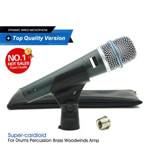 Лучшие качества новой версии супер-кардиоидный вокальный микрофон профессиональный караоке проводной Handheld Mic Mike для Stage Liv