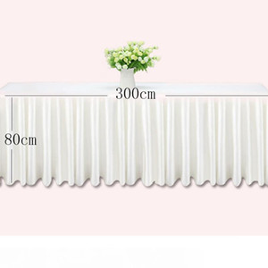 0.8 * 3m Table skills white ice silc wedding table clother clothing hotel decoration hotel home skirting pink