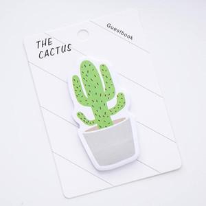 Carino Cactus Memo Pad Memo Sticky Note Sticker taccuino di carta N Adesivi Stationery Office Accessori Scuola Forniture 672 100