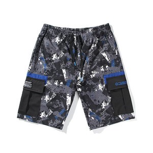 Summer Beach Mens Cargo Shorts allentato coulisse Mid WaistRelaxed Mens brevi pantaloni casual Homme Shorts