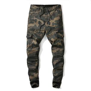 Известные камуфляжные джинсы Новые летние дизайнеры мужских рваных байкеров известных брендов Casual Pants джинсы хип-хоп для джинсов Denim Long Pants