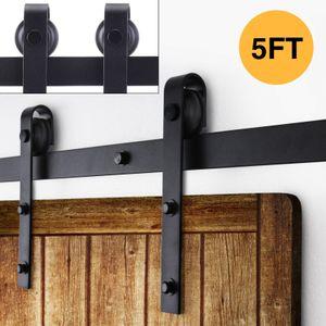 5FT الثقيلة الصلب انزلاق الخشب الشونة خزانة باب واحد بكرات الأجهزة المسار كيت