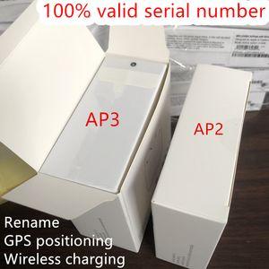 Air Gen 3 AP3 H1 Chip Transparência do metal Dobradiça de carregamento sem fio Bluetooth Headphones pk Pods 2 AP Pro AP2 W1 Earbuds 2ª Geração
