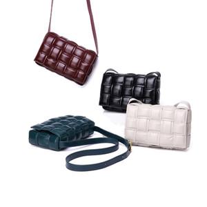 2019 nuova borsa imbottita cuscino Retro reale spalla del cuoio genuino delle donne del sacchetto del pane sacchetto del messaggero