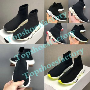 Balenciaga Kid Sock shoes Luxury Brand Speed ​​Trainer Sportaußen Turnschuhe Trainer Socke Rennen Läufer schwarz Schuhe Kindersportschuhe 24-35
