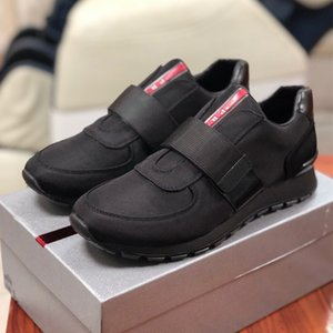 High quality Mens designer shoes Fabric and brushed leather sneakers runner fashion men platform casual Shoes