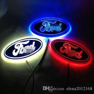 Logo cauda 4d Led Car Light emblema Lamp emblema da etiqueta para a Ford Logo Decoração