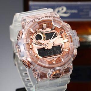 Orologio da polso al quarzo con cinturino in silicone a doppia funzione con lancetta delle ore a LED di marca di moda di vendita calda
