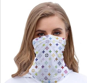 Popular Letters PrintingDesigner Half Face scarf Outdoor Cycling Bandanas Scarf Designer Headband Sports Scarves Washable Protective Face