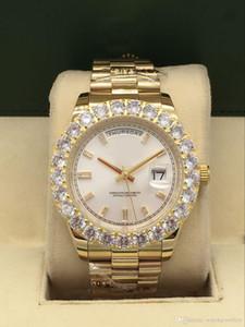 Высокое качество Мужские спортивные часы 44мм DayDate dayjust с алмазным часы 2813 Высокое качество автоподзаводом Оригинальный замок