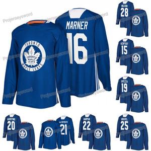 Toronto Lable Leafs الممارسة لاعب جيرسي ميتشل مارر الكسندر كيرفوت فان ريمسديك غاريت ويلسون ويليام نيللاندر أوستون ماثيوز
