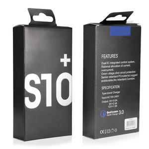 Für Samsung Ladegerät-Adapter 2 in 1 Schnell-Ladegerät Combo S10 HINWEIS 10-Ladegerät Typ C Kabel Heim Adapter EU US PLUG für Android Celllphones