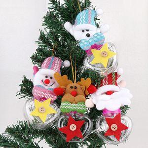 4Style Peluş Noel Baba Kardan Adam Noel Hediye Kutuları Çocuk Şeker Kavanoz Şişe Noel Dekorasyon Parti Yılbaşı Dekor Şekeri