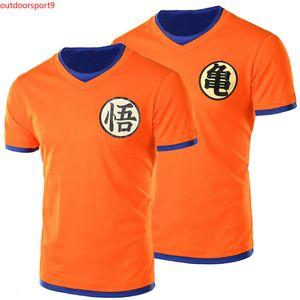 Neue Ankunft Japanischen Anime Dragon Ball Z T-shirt Sohn Goku T-shirt Kurzarm Oansatz T-shirt Super Saiyan T-shirt für männer / frauen