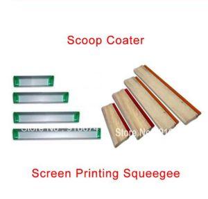 Cheap 1pc Silk Screen Printing Squeegee Ink Scraper Screen Printing Aluminum Emulsion Scoop Coater Tools