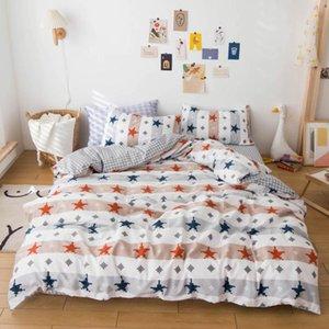 Svetanya Cotton Bedding Set Print Bed Linen (flat Sheet Pillowcase Quilt Cover) Single Double Size
