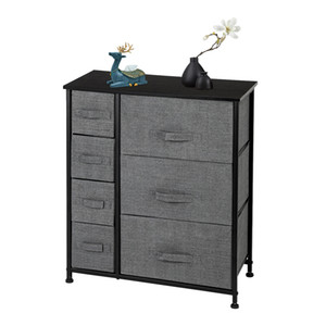 Dresser With 7 Drawers - Furniture Storage Tower Unit For Bedroom, Hallway, Closet, Office Organization - Steel Frame, Wood Top, Easy Pull F