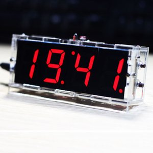 1 pezzo LED a 4 cifre Micro elettronico digitale di controllo dei corredi DIY Time Clock Accessori Sveglie