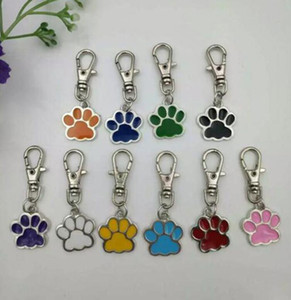 Anahtarlık Çanta Takı Yapımı İçin Karışık Renkli Emaye Kedi Köpek Bear Paw Prints Döner Istakoz Kapat Anahtarlık Anahtarlık