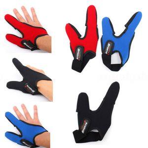 Il nuovo arrivo con due dita Finger Protector singolo Casting regolabile Protector elastico guanto Fly Carp Fishing Glove Accessori