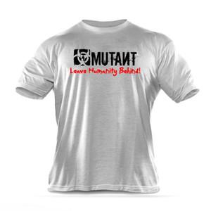 Мода марка мужчины T-Shirt Фитнес Slim Fit Рубашки с коротким рукавом хлопка одежды отдыха способа O-образным вырезом МУТАНТ печатных тройник