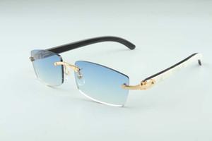 Sıcak çerçevesiz gözlük güneş gözlüğü 3524012 Doğal Mix öküz boynuz kadın ve erkek güneş gözlüğü gözlük eyeglassessize: 56-18-140mm