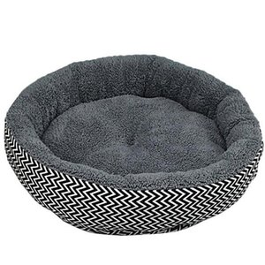 Cushion warm couch bed for pet puppy dog cat in winter-Grey S