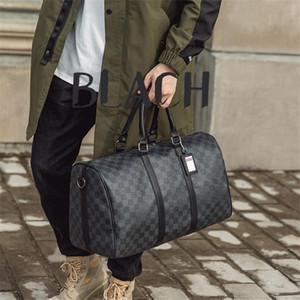 uomini borsa di grande capacità a breve distanza del sacchetto di modo di cuoio controllo di borsa da viaggio in pelle corsa idoneità uomini nuovi stampati e le donne borsa da viaggio