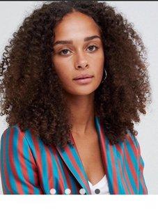 Afro Curl piena del merletto wigss 10A Virgin brasiliano capelli umani di Remy Marrone # 2 Lace wigss Celebrity parrucche Lace Front wigs Free Shipping