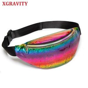 Xgravity 2020 pullu kadın Bel çantası Fanny paketi Koşu Zip Kemer para kılıfı tatil göğüs çanta Tote Satchel H001