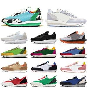 Stock x Nike Sacai LD waffle Blazer Alta qualidade das mulheres dos homens tênis de corrida Branco Preto Nylon Varsity Blue Pine Green blazer daybreak formadores tênis