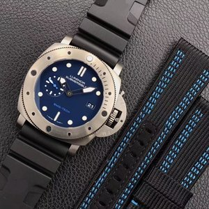 extra strap 47mm sapphire blue dial 692 00692 Mens Watches titanium men watch automatic vs vsf best quality Wristwatches orologio di lusso