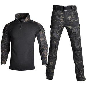 Tarnung Combat Shirt Hosenanzug militärische taktische Uniform US-Armee BDU Multicam Schwarze Männer Airsoft Sniper Camo Jagd-Kleidung