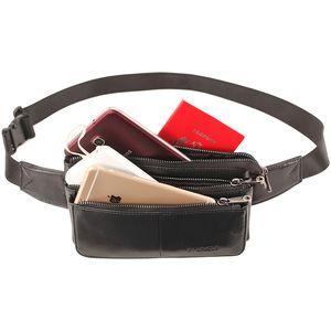 PI UNCLE taille en cuir véritable Packs téléphone portable Sacs ceinture vintage Sling crochet Sac Croisement