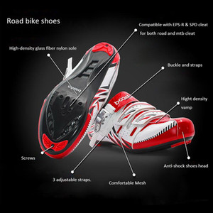 Boodun Cycling Shoes Men MTB Road Bike Shoes Professional Mountain Bike Racing Sneakers Impermeable Ventilate Outdoor Sport Zapatos