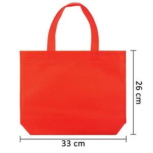 Colore della caramella Plain non tessuto versione verticale Borse su ordinazione Borse di Tela Customized Recycled Bags riutilizzabili commerciale della stampa Il vostro commercio all'ingrosso di disegno