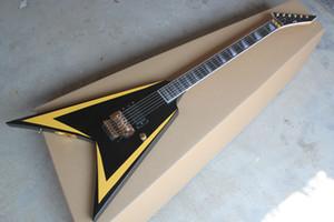 frete grátis LTD Flying V Custom Shop Sangue Lágrimas James Hetfield guitarra elétrica Floyd Rose ponte captadores EMG ativo