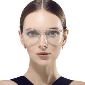 Cristal ovalado grande Ful-Rim Pilot Eyeglass Frame Montura de cristal liso con templo fino para hombres y mujeres 3026