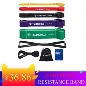 Bande TOMSHOO 5 pacchetti di resistenza tirare su Assist Band Set Powerlifting tratto esercizio bandas di yoga di sport de resistencia