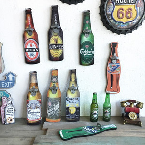 Abridor de botellas de pared de madera Retro Abrebotellas de cerveza Colgante de pared Cafe Bar Restaurante Estilo Vintage colgante de pared Retro decoración para el hogar