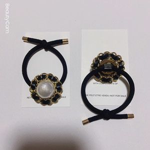 Exquisito y explosiones shell cuerda del pelo del anillo del pelo imitación cadena de metal simples horquilla del clip de la moda C símbolo joyería para regalo del partido