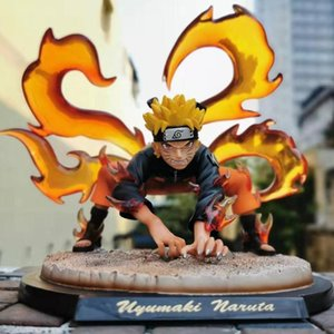 Naruto Anime Naruto Uzumaki Action Figures Kurama figma giocattoli per i bambini GK Ninetales PVC Modello Bambola Shippuden Naruto Figurine