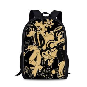 Sacchetto di scuola per i bambini delle ragazze del ragazzo Backpack Bendy e l'inchiostro macchina femminile Schoolbag Scuola Forniture Satchel casual Cartella