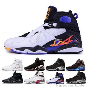 2019 New 8 Alternate Bugs Bunny 8s Black Chrome Playoff Countdown Pack Men Basketball Shoes Aqua Viii Three Peat Athletic Sneakers Shoes
