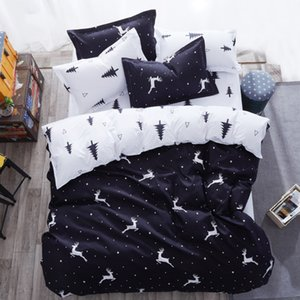 4pcs Bedding Set  Animal Family Set Include Bed Sheet Duvet Cover Pillowcase Boy Room Decoration Bedspread